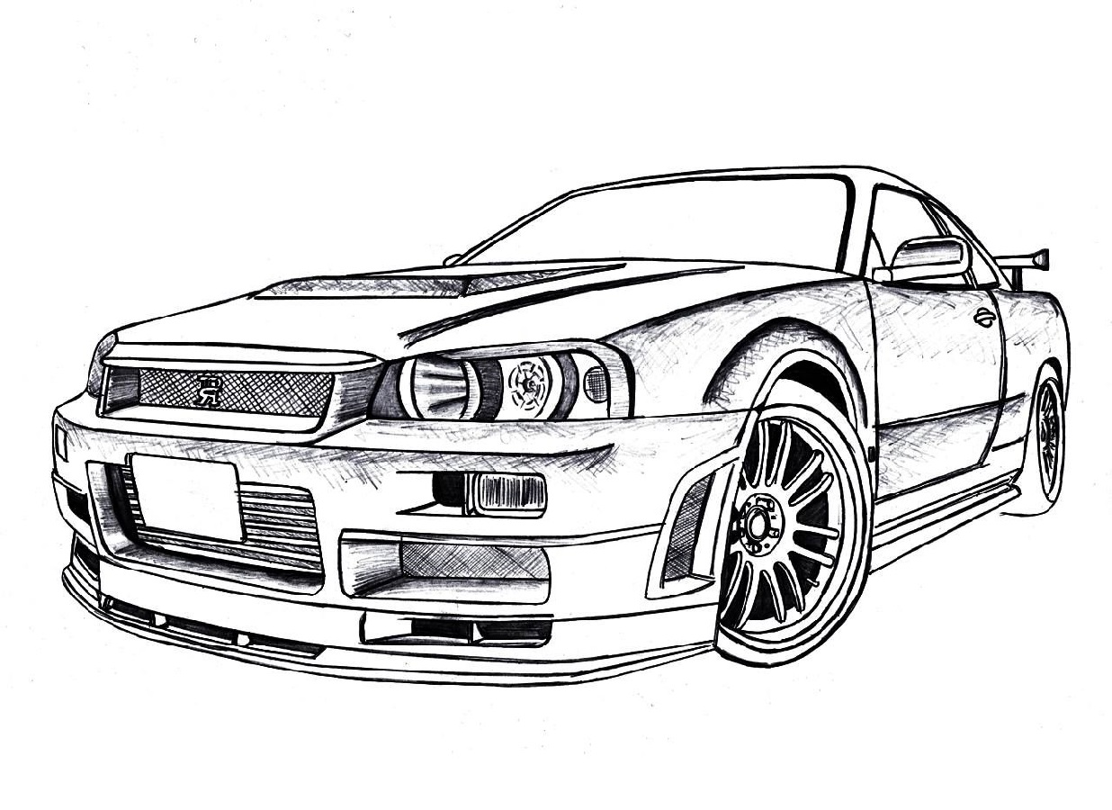 Gtr coloring pages 2