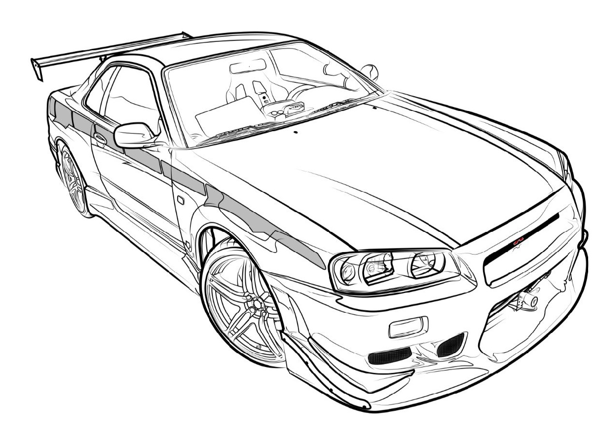 Gtr coloring pages 3