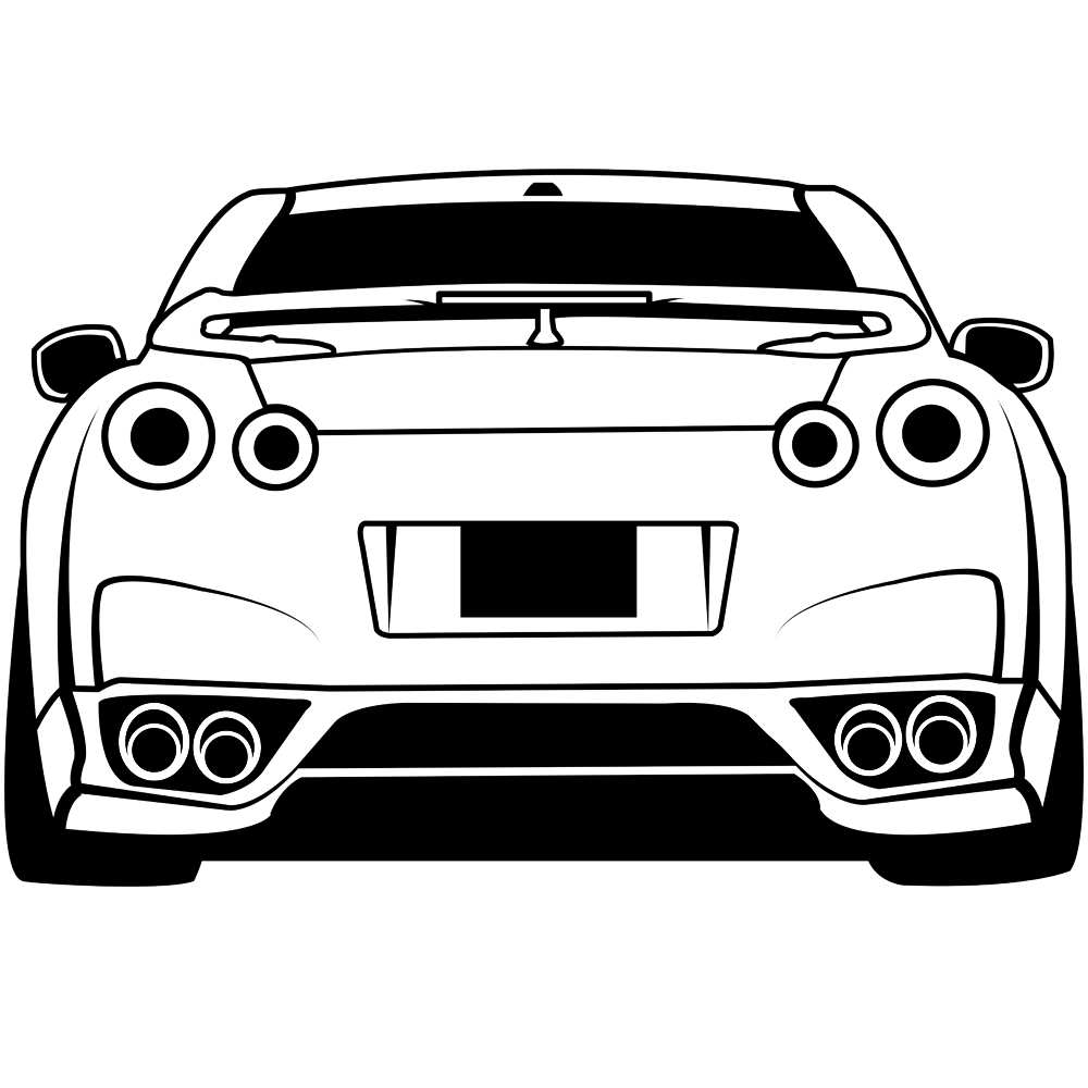Gtr coloring pages 4