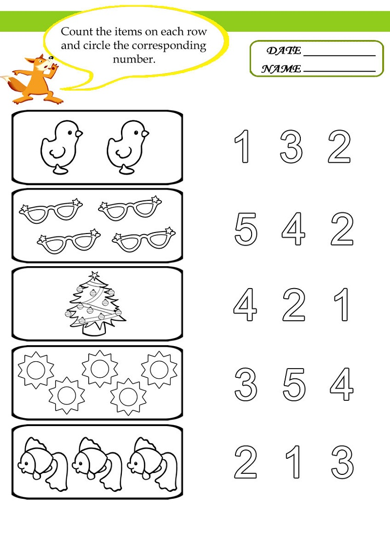 Activity Sheets For 4 Year Olds | Educative Printable
