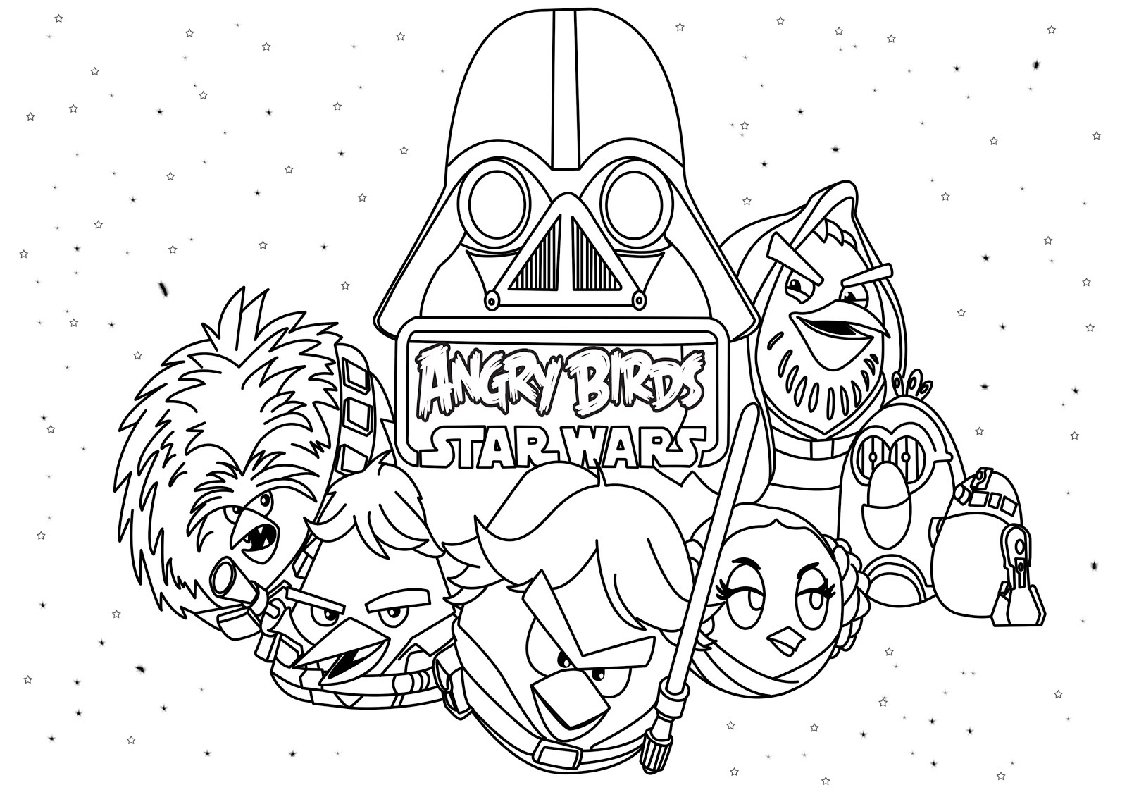 angry birds star wars coloring pages 4