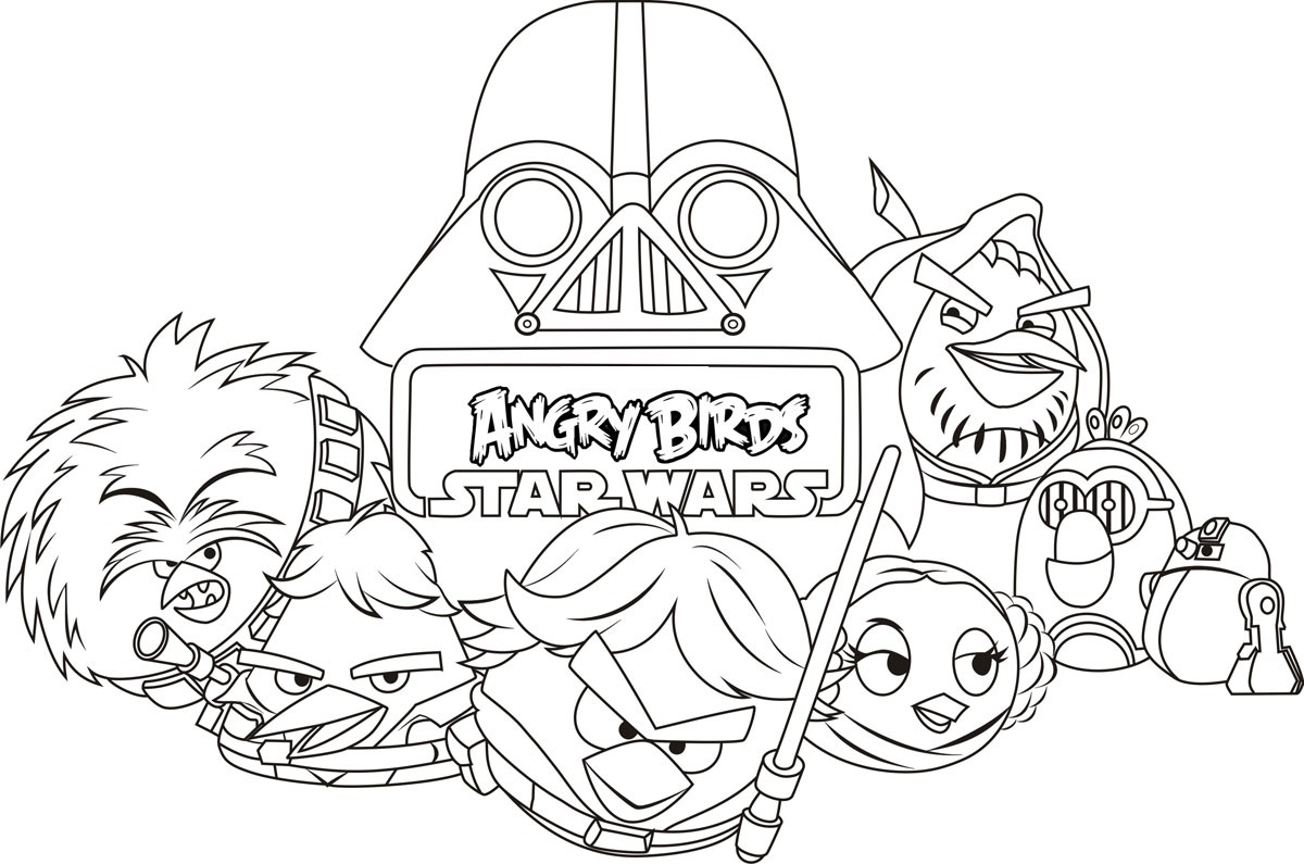 angry birds star wars coloring pages 5
