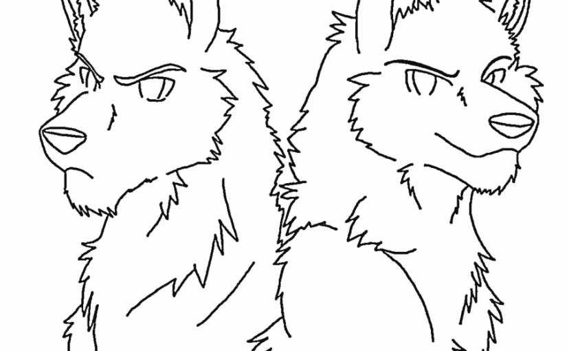 Anime Wolf Coloring Pages Downloadable