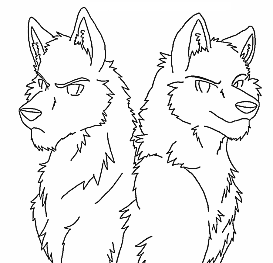 anime wolf coloring pages angry