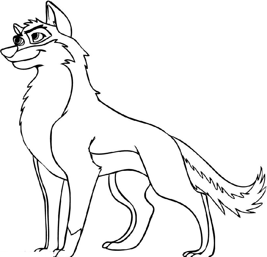 anime wolf coloring pages cute