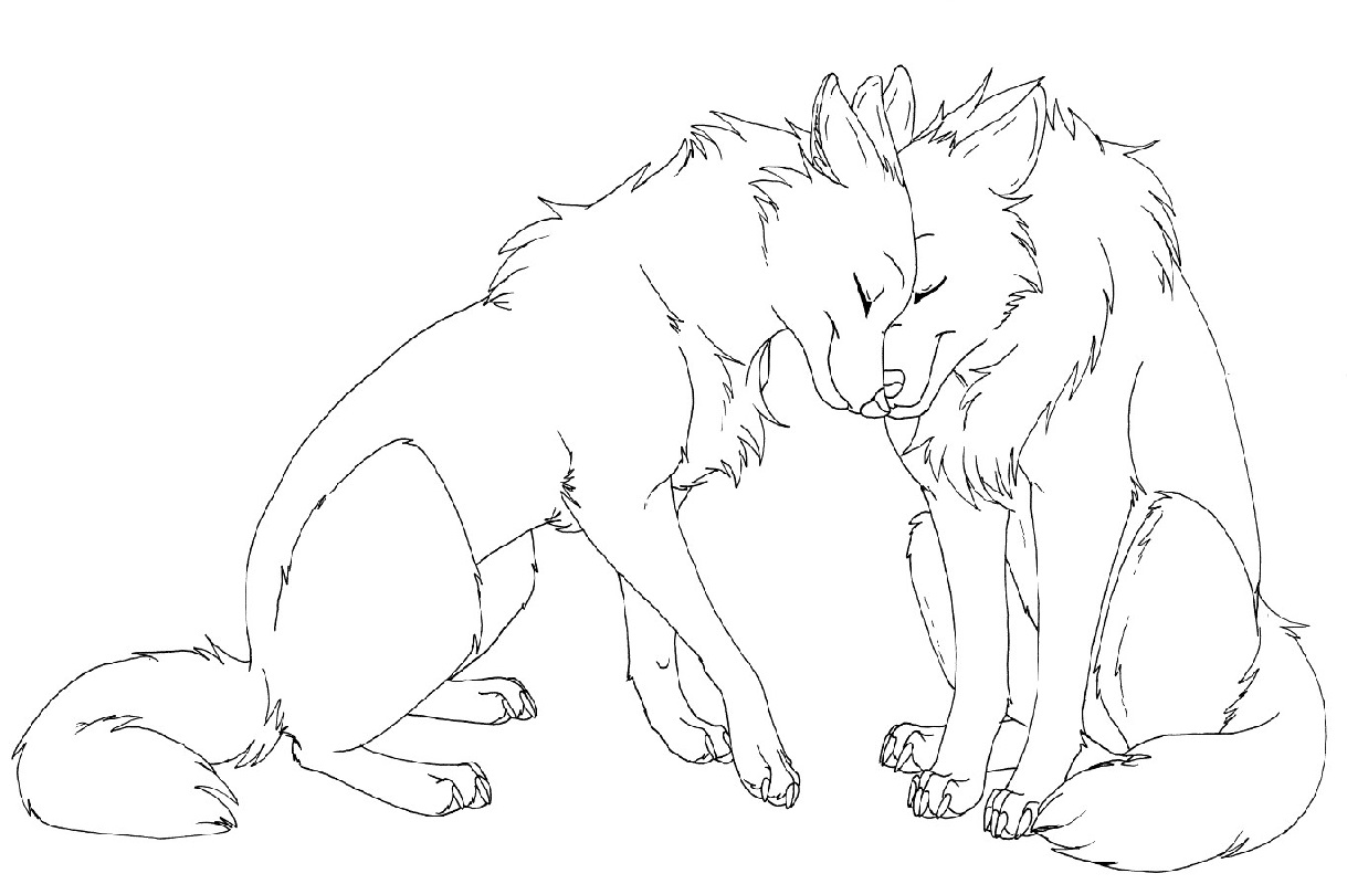 anime wolf coloring pages wolfes