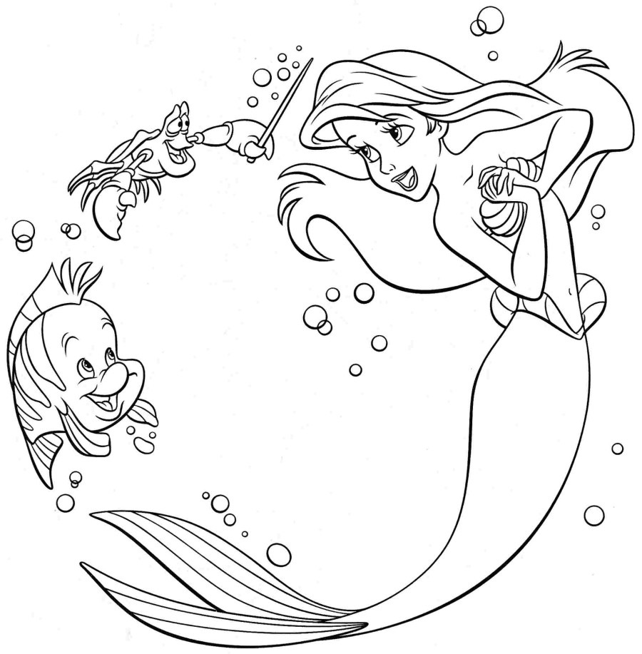ariel coloring pages 3