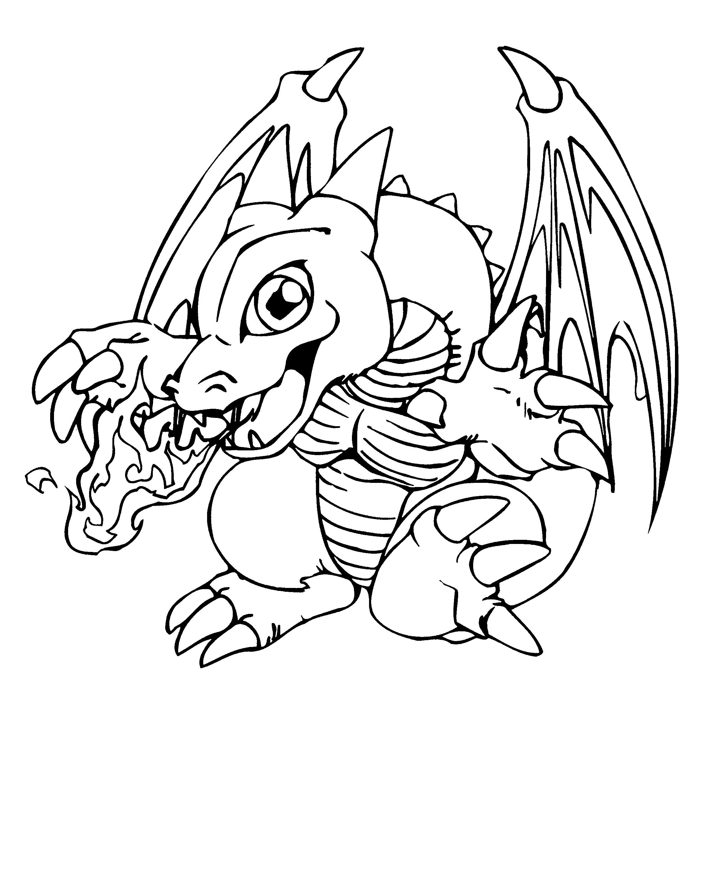 baby dragon coloring pages 1