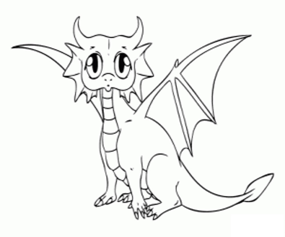 baby dragon coloring pages 2