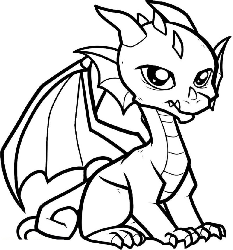 baby dragon coloring pages 3