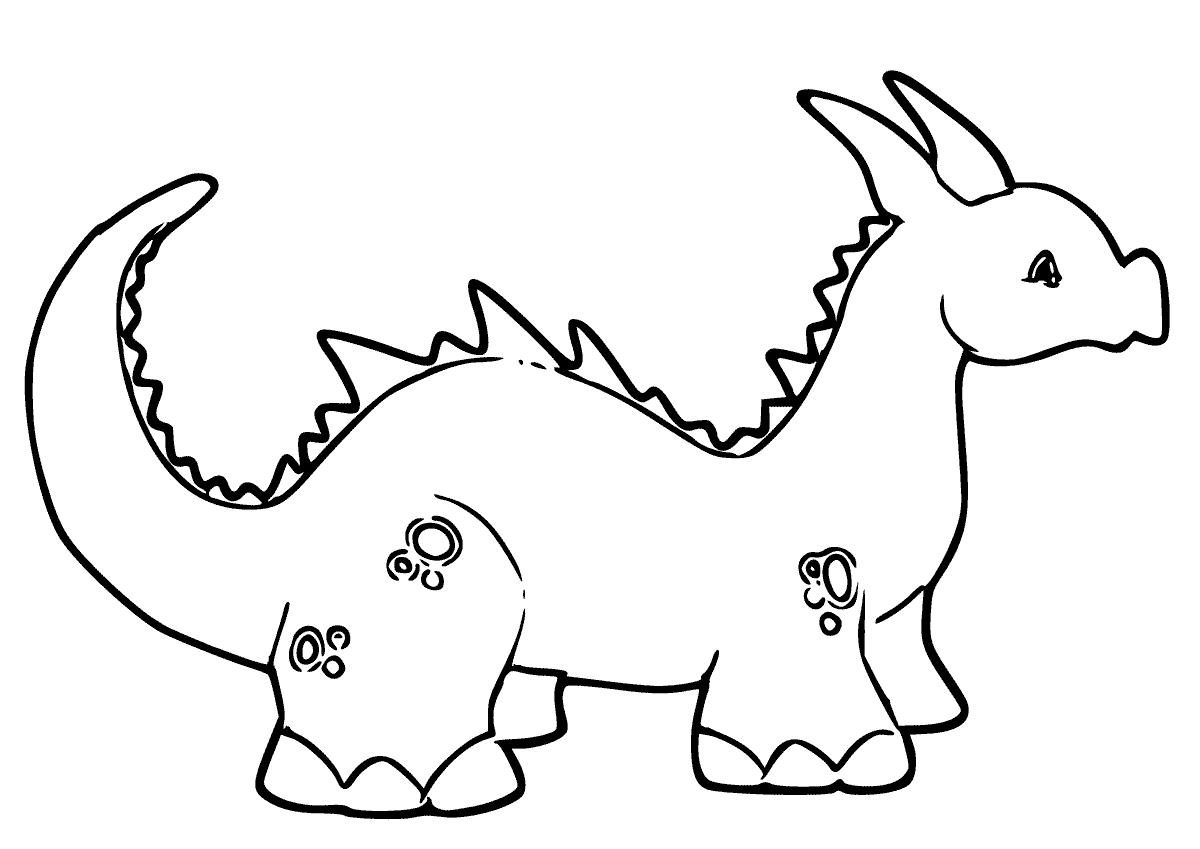 baby dragon coloring pages 5