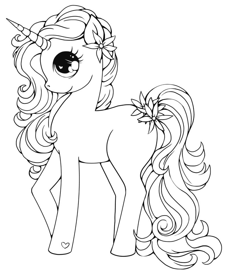 baby unicorn coloring pages 1