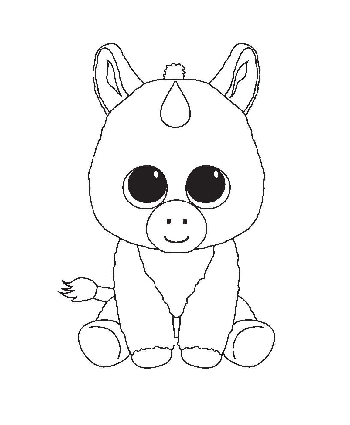 baby unicorn coloring pages 2