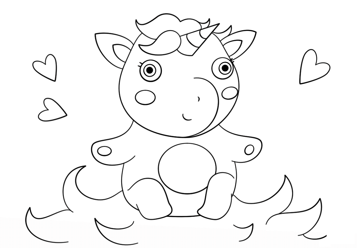 baby unicorn coloring pages 3
