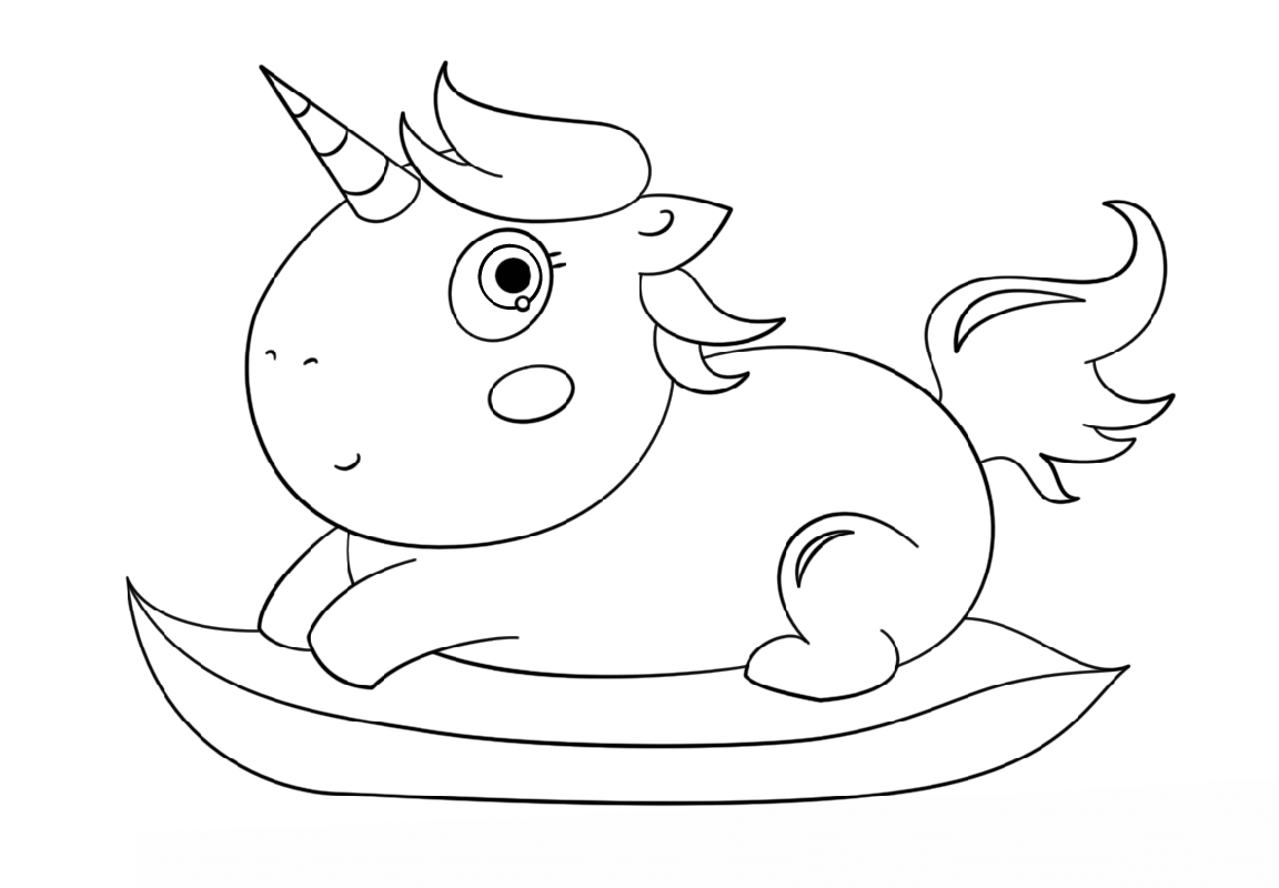baby unicorn coloring pages 5