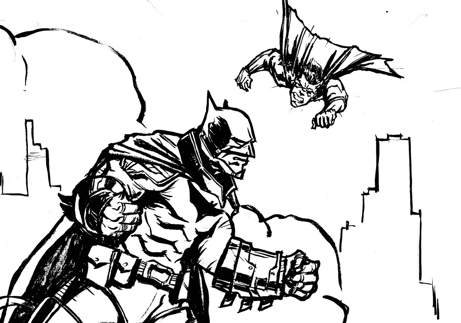 batman vs superman coloring pages 2