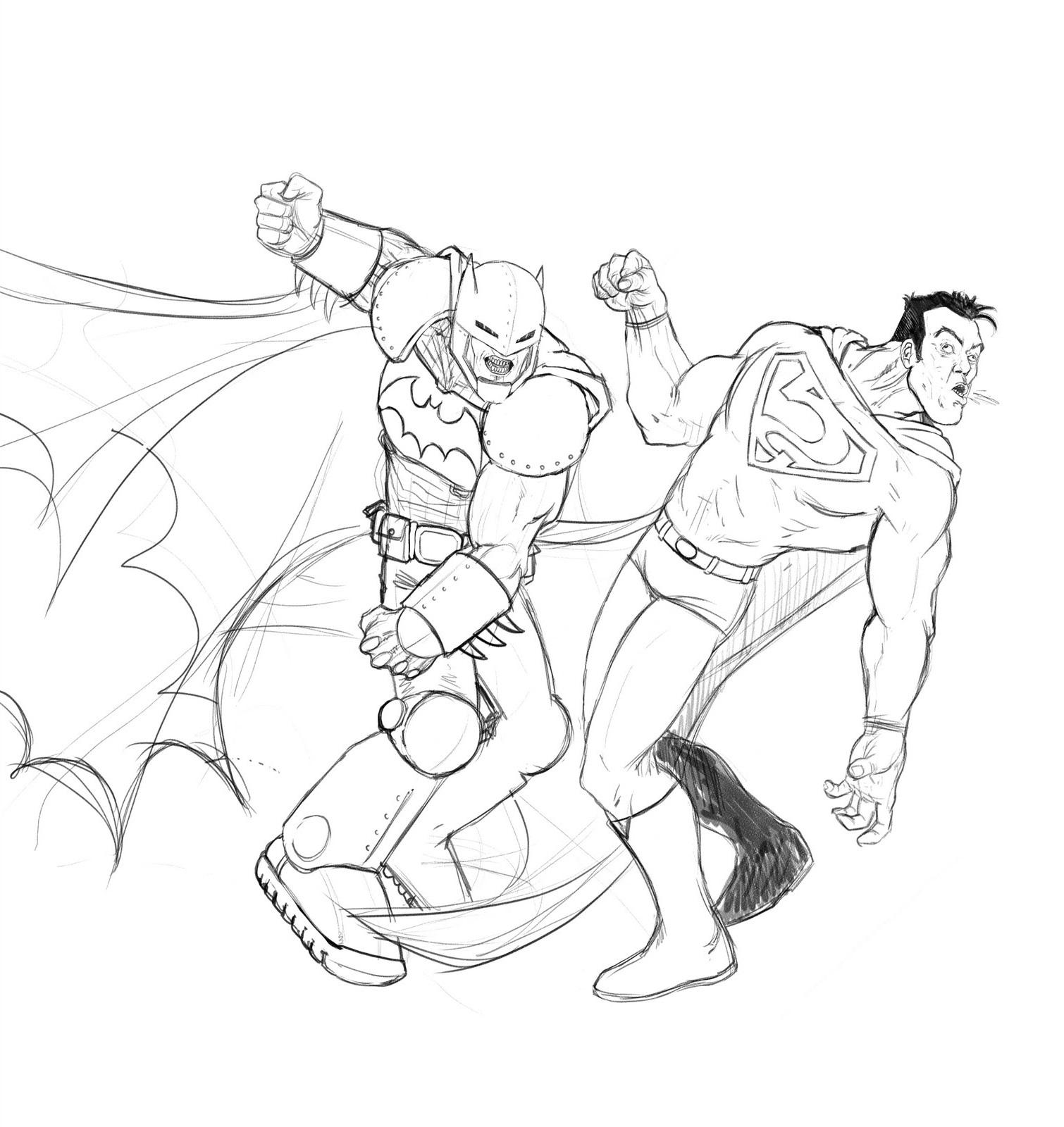 batman vs superman coloring pages 5