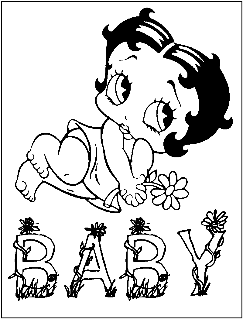 betty boop coloring pages 5