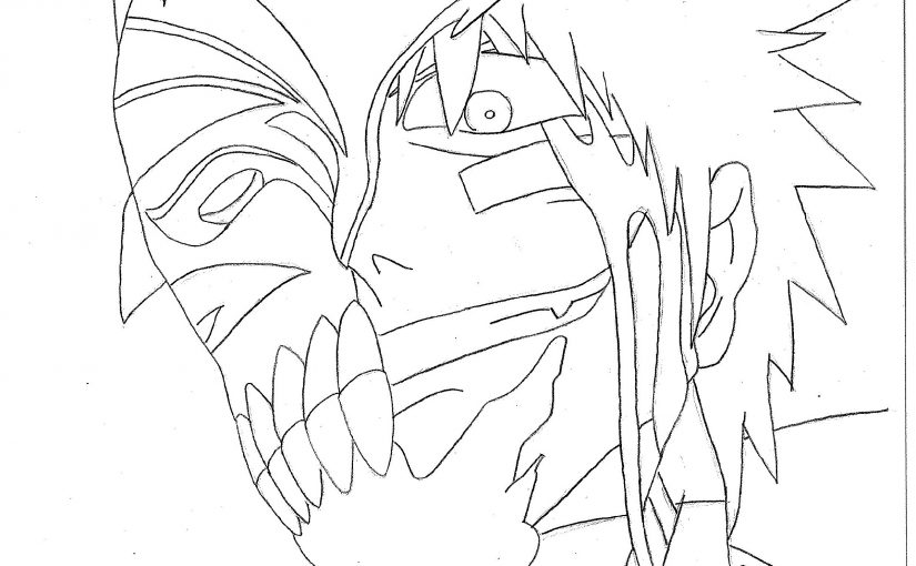 bleach coloring pages face