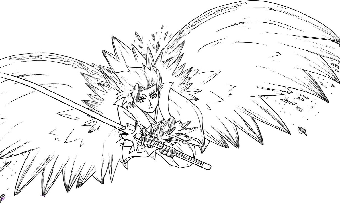 bleach coloring pages wings
