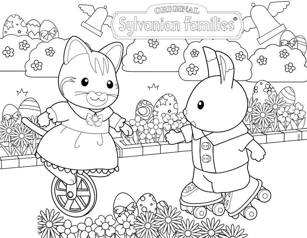 calico critters coloring pages 3