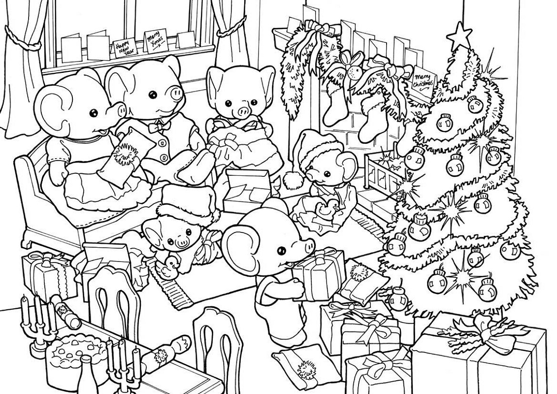 calico critters coloring pages 4