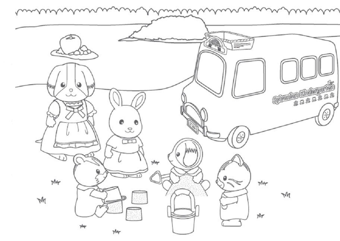 calico critters coloring pages 5