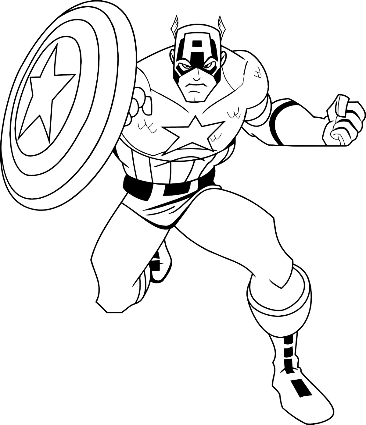 Captain America Coloring Pages Free Download | Educative ...