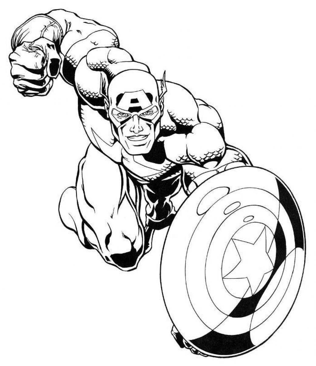 captain america coloring pages 3