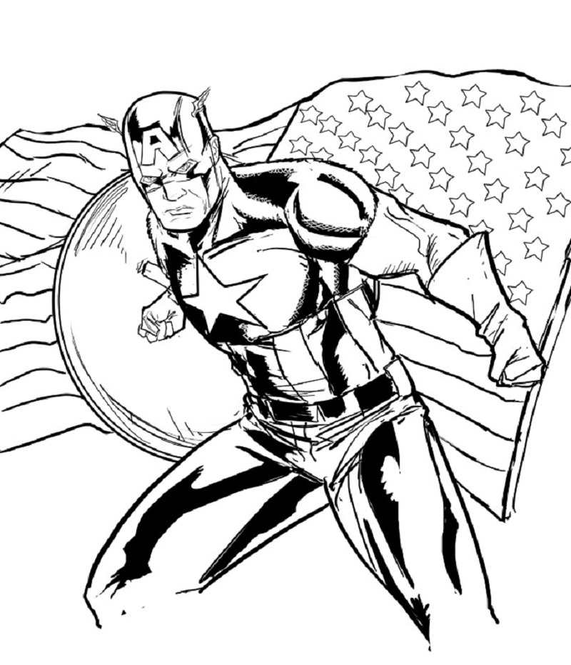 captain america coloring pages 5