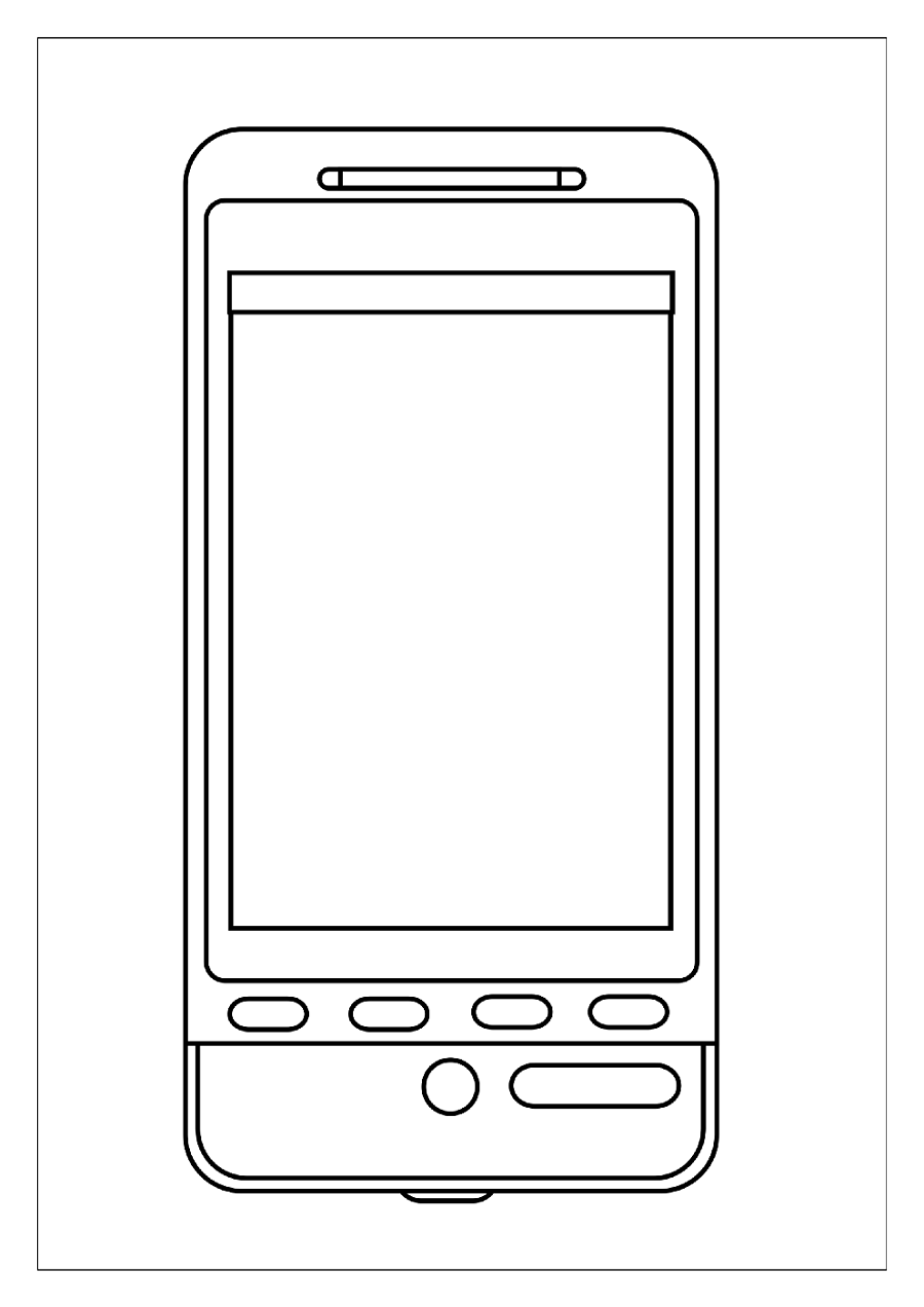 cell phone coloring page 2
