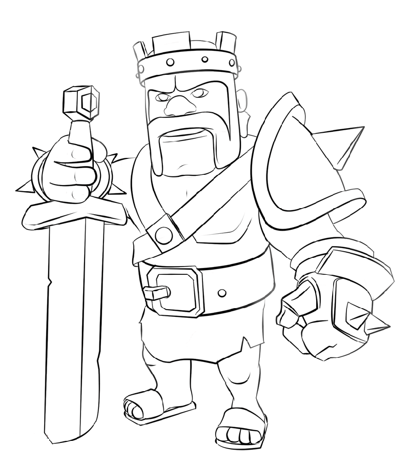 clash of clans coloring pages 3