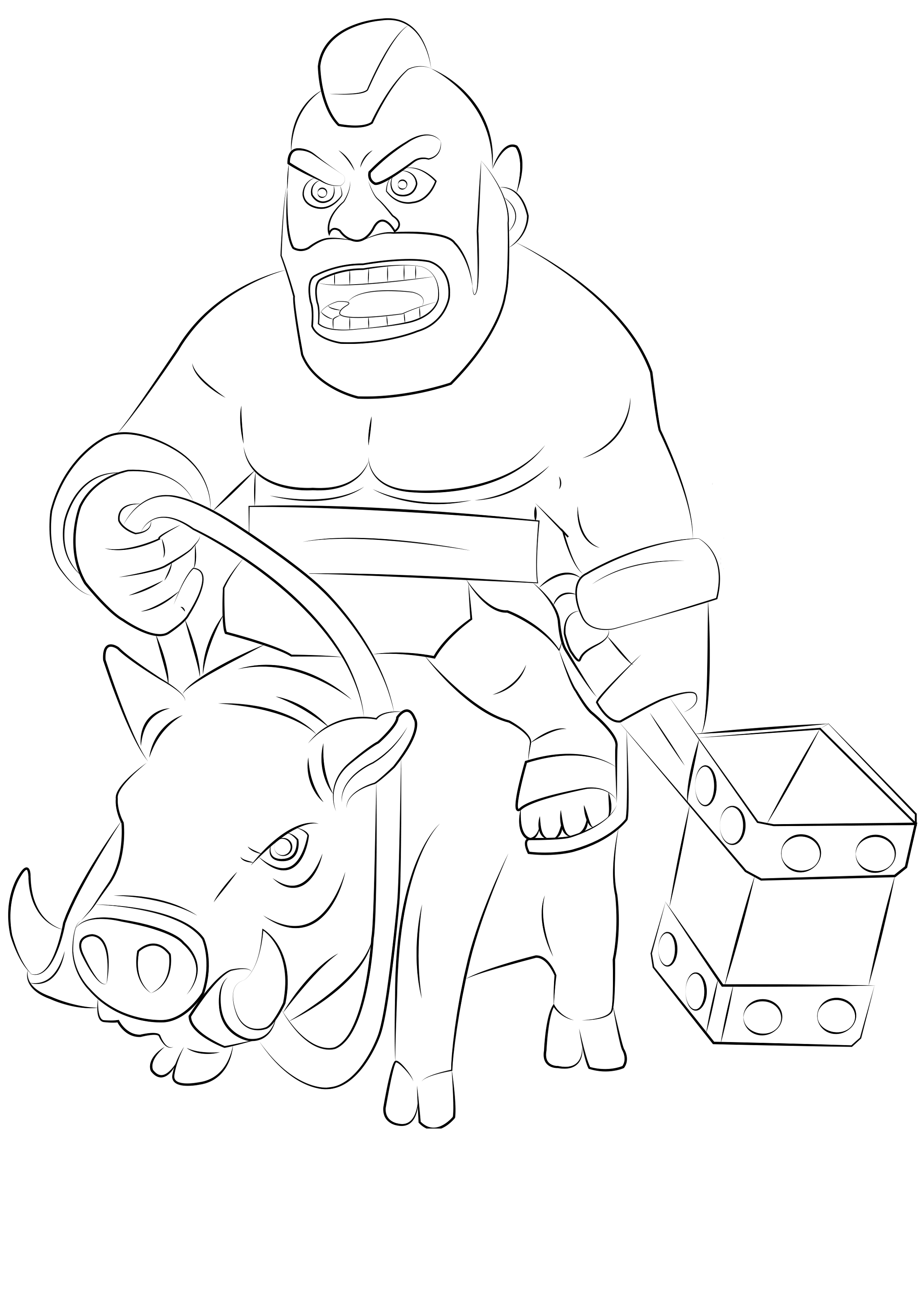 clash of clans coloring pages 4