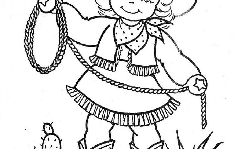 Cowgirl Coloring Pages for All Cartoon Lovers