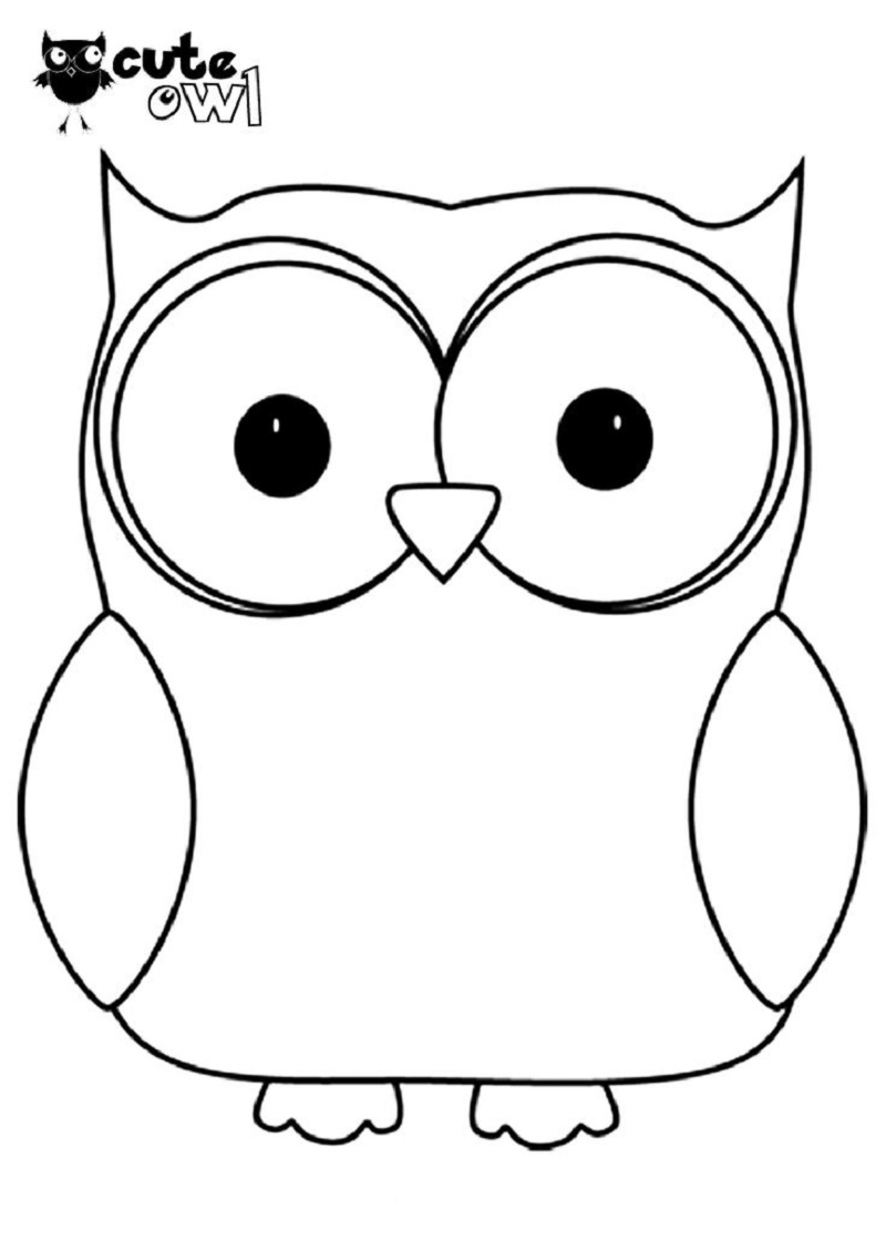 cute owl coloring pages 1