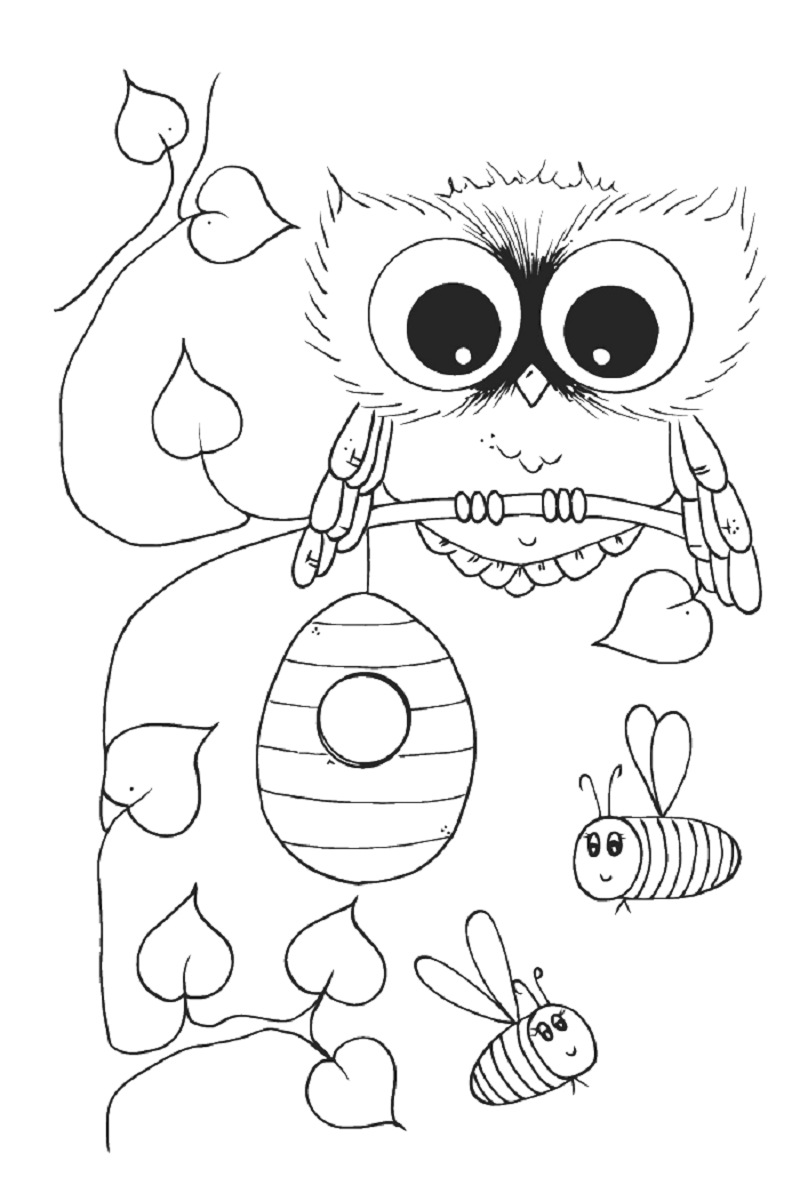 cute owl coloring pages 2