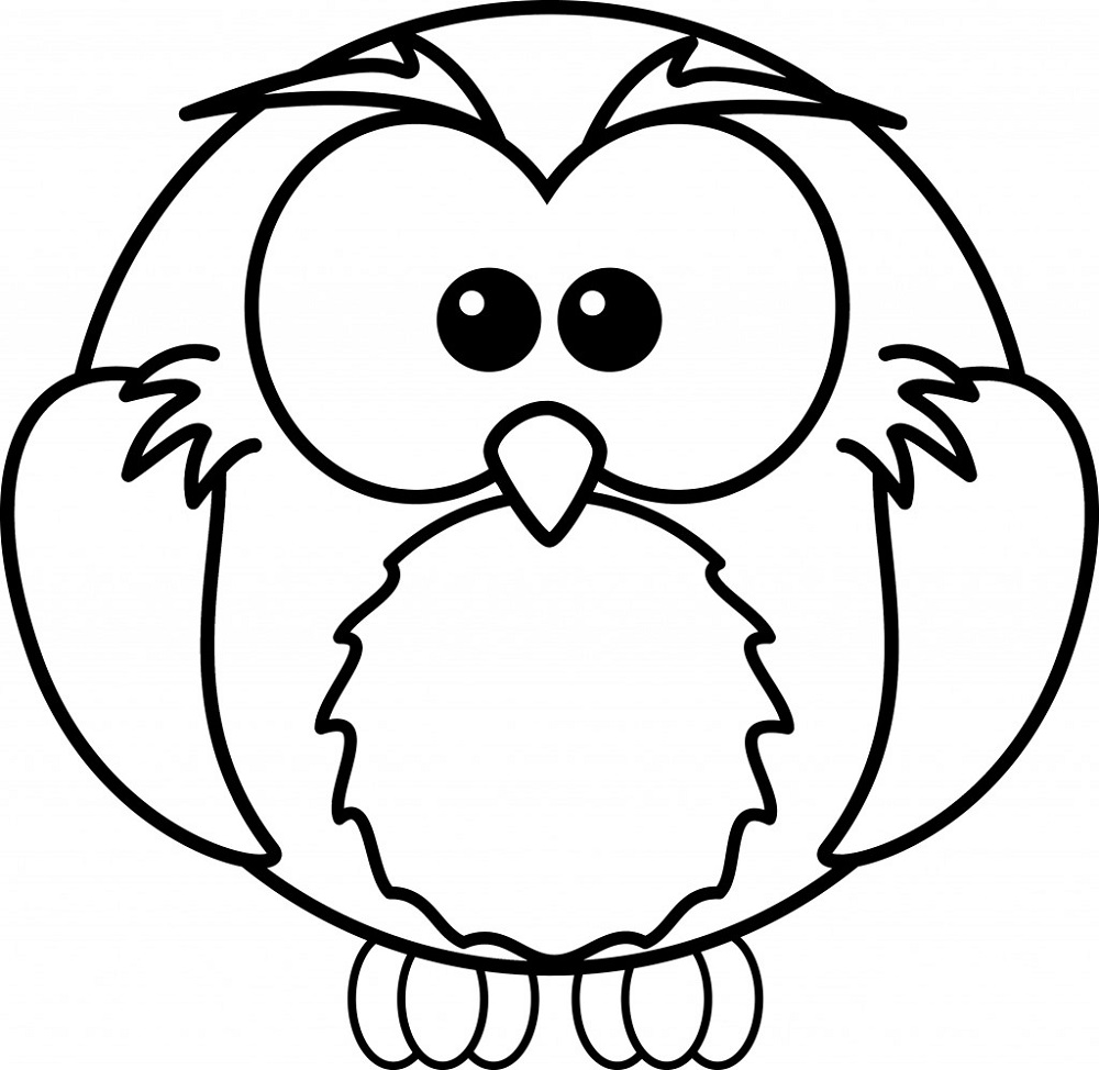 cute owl coloring pages 5