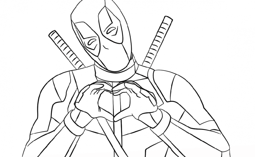 deadpool coloring pages 1