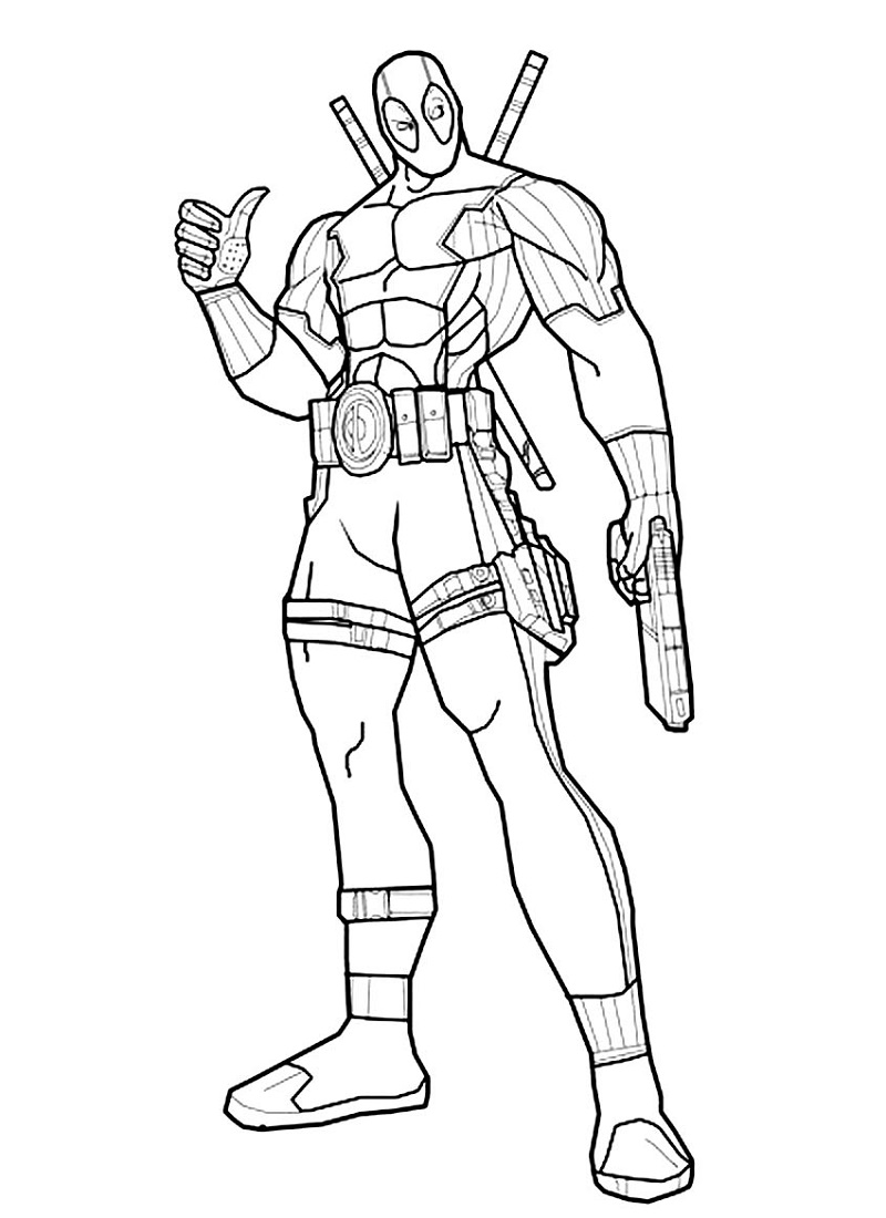 deadpool coloring pages 2