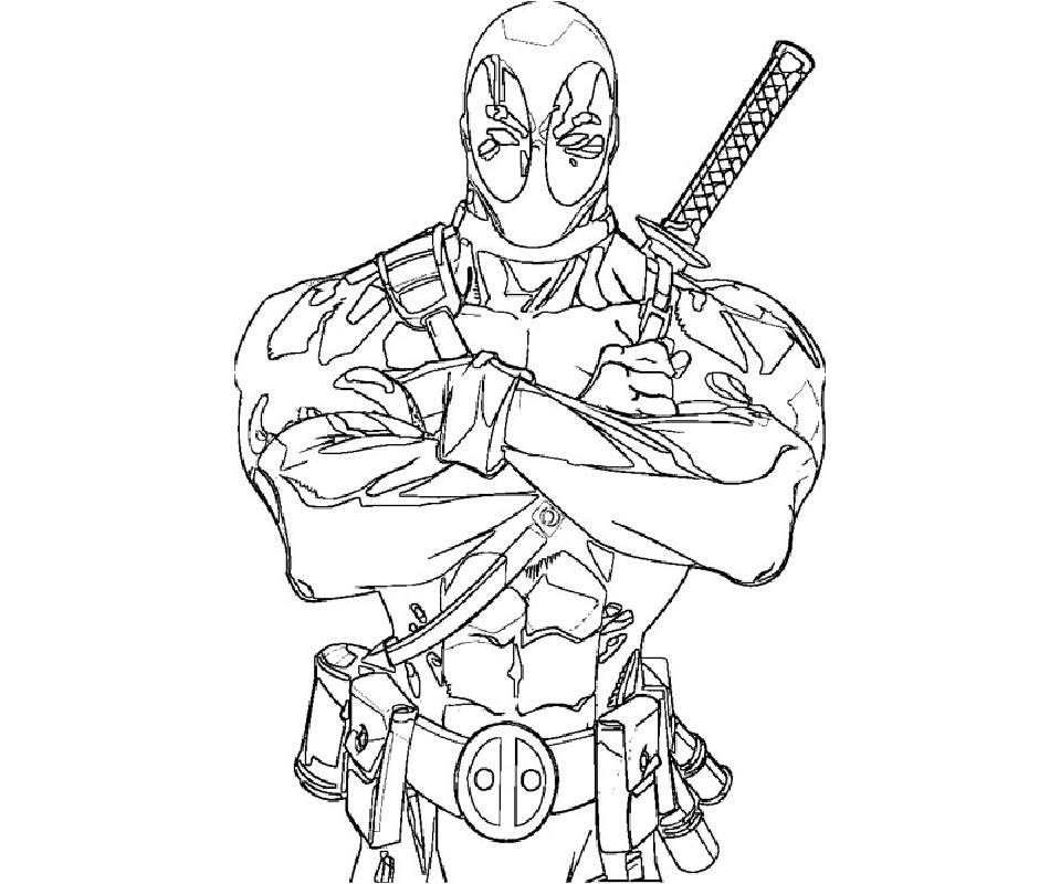 deadpool coloring pages 3