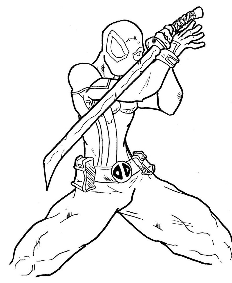 deadpool coloring pages 5