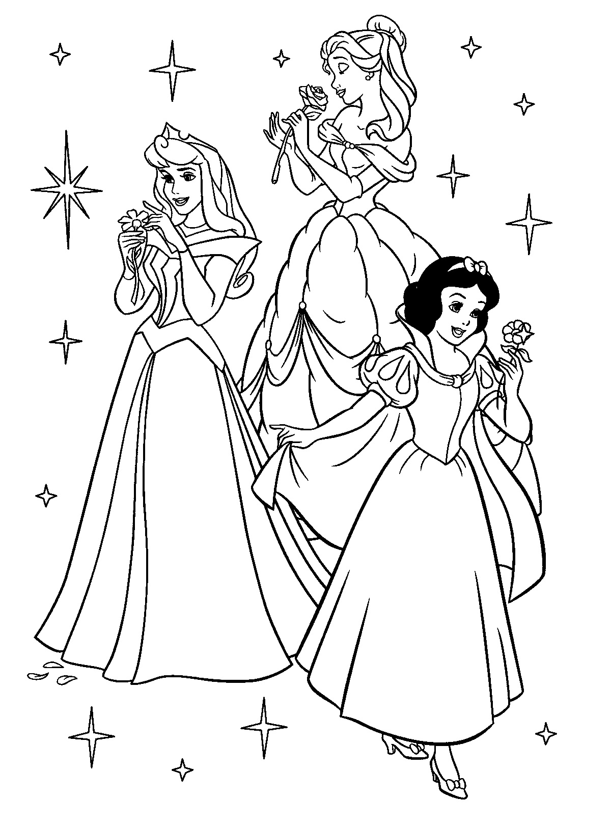 disney princess coloring pages 1