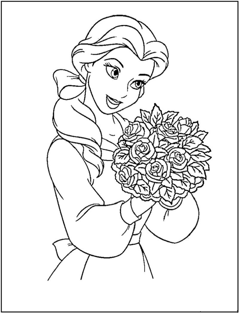 disney princess coloring pages 3