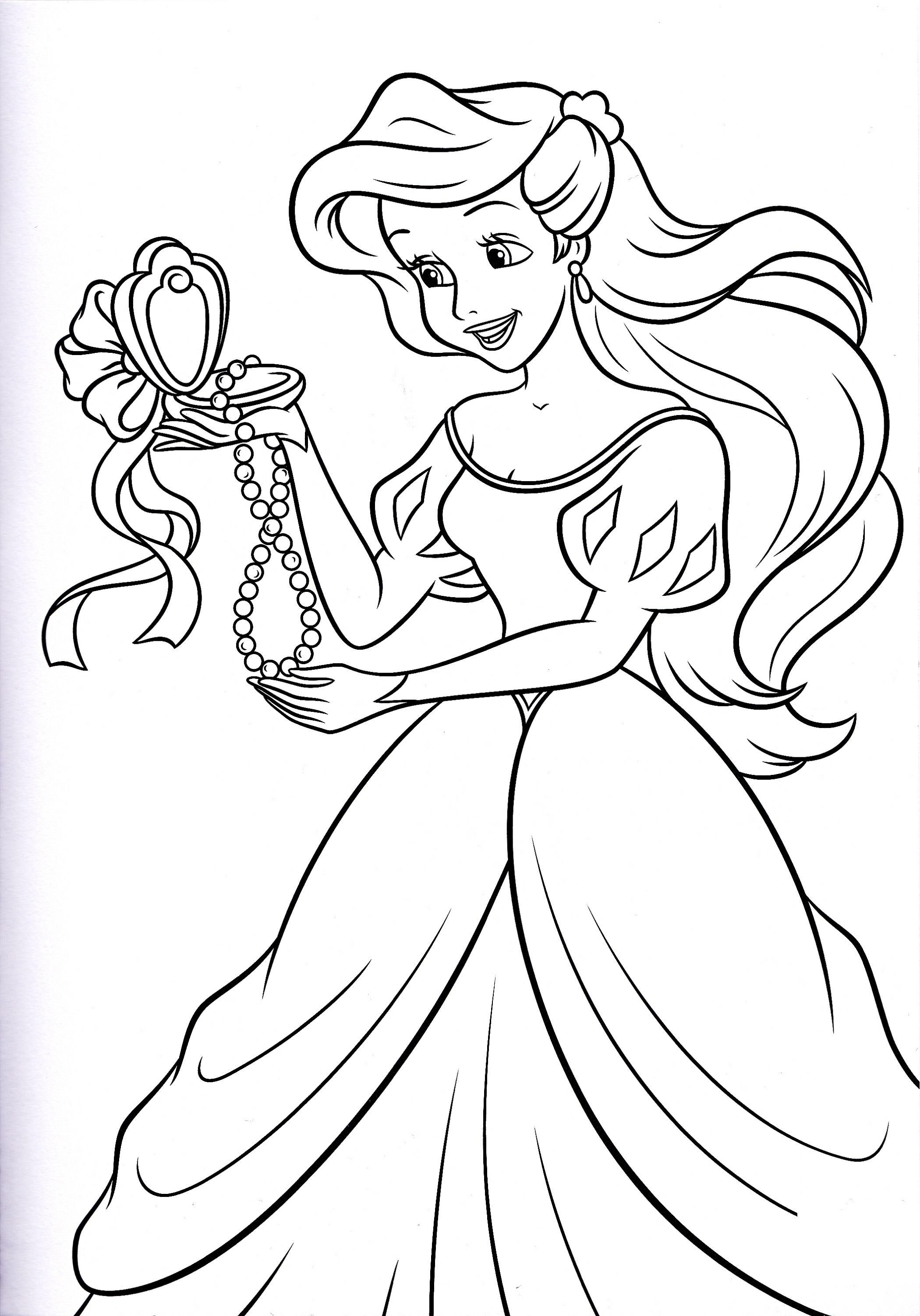 disney princess coloring pages 5