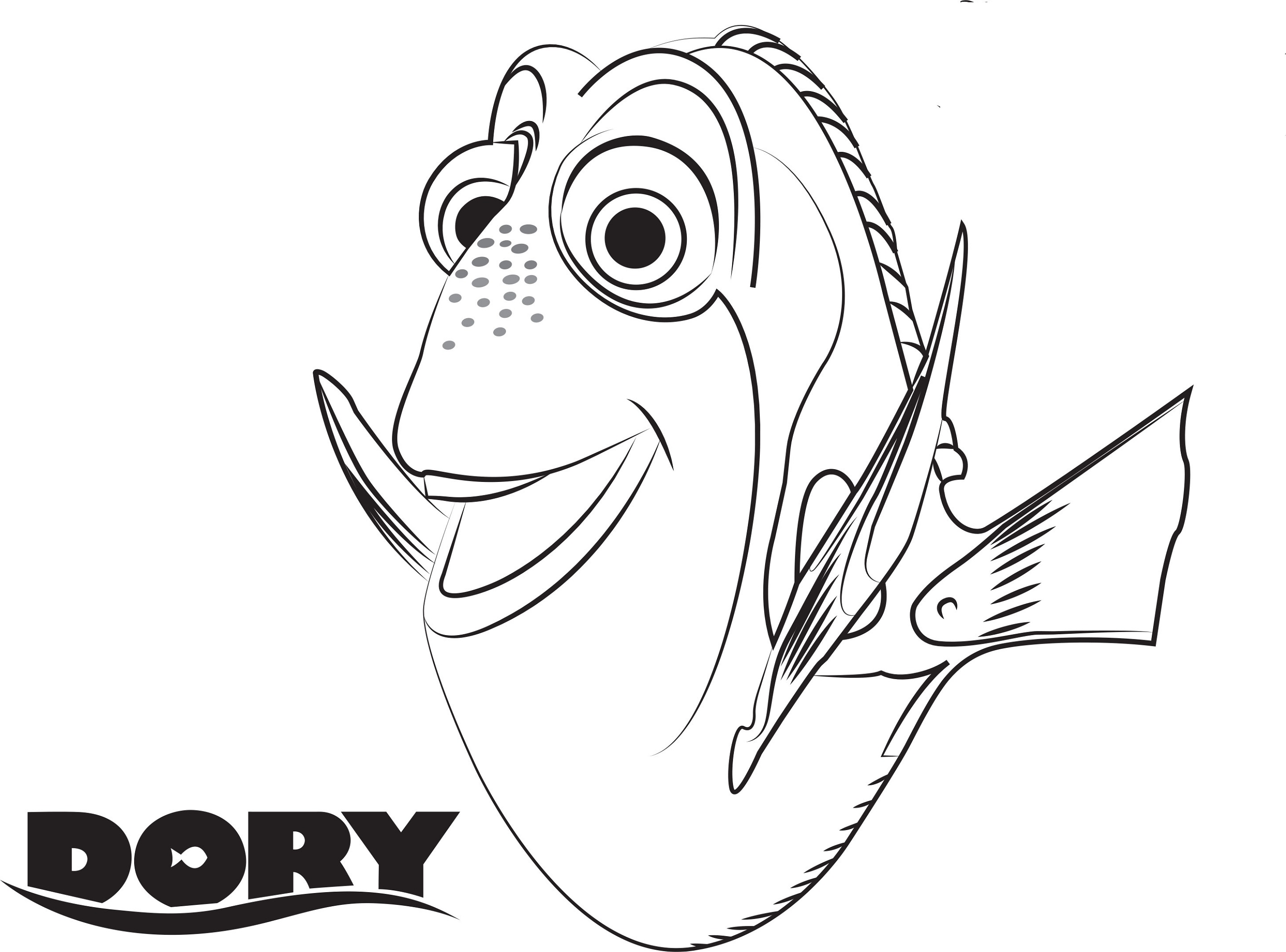 dory coloring pages 3