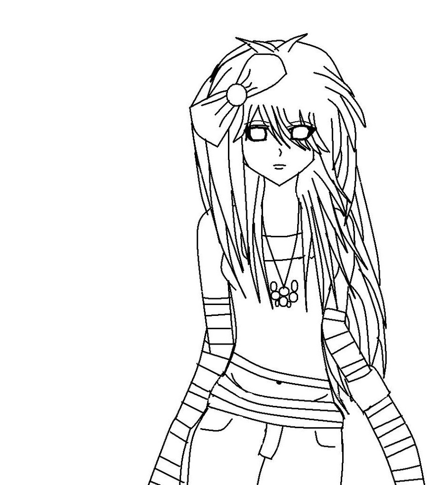 emo coloring pages 5