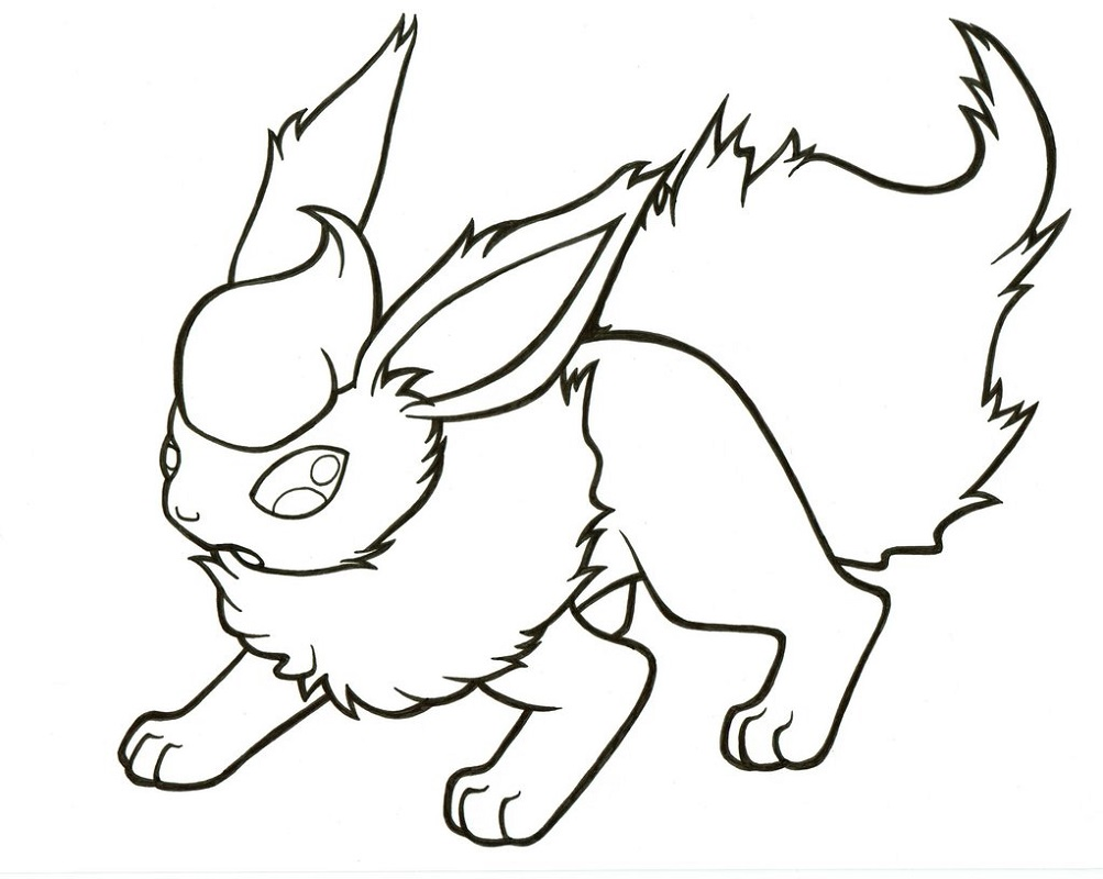 flareon coloring pages lineart 2
