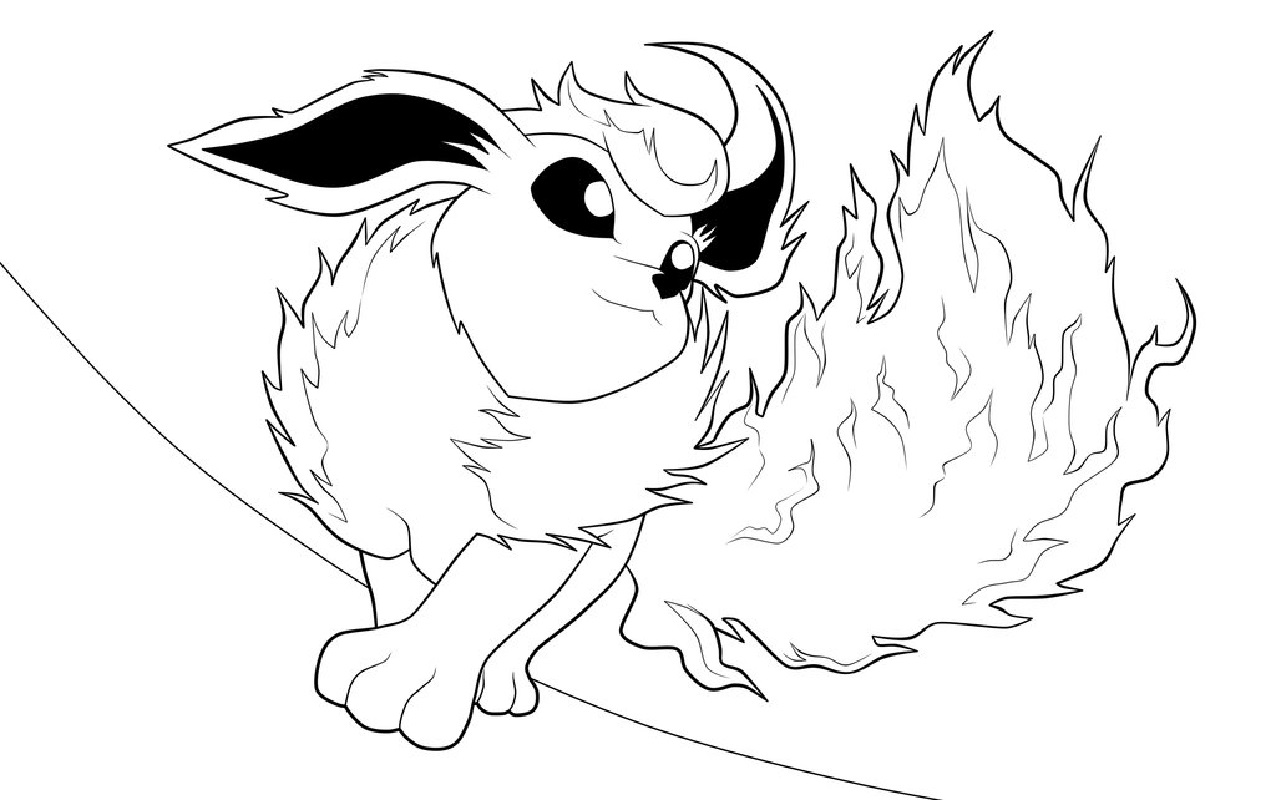 flareon coloring pages lineart