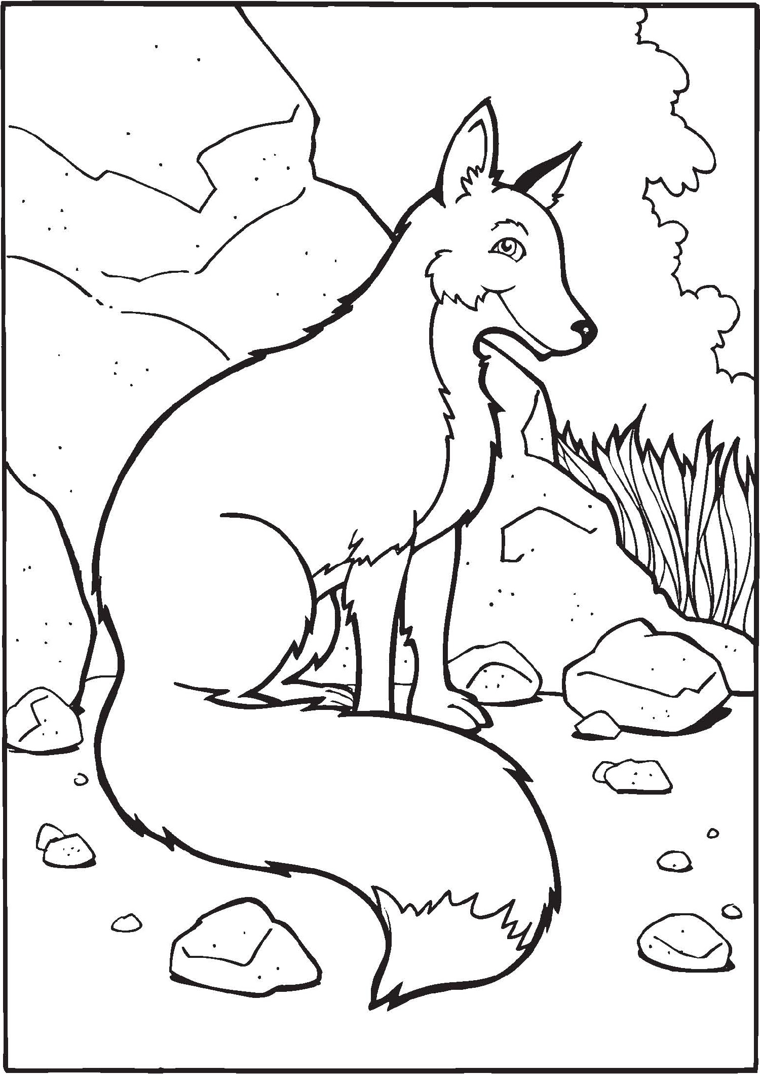 fox coloring pages singles