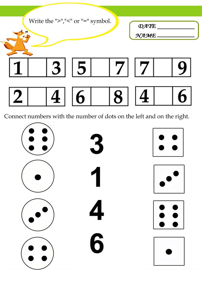 free math worksheets for kids 1